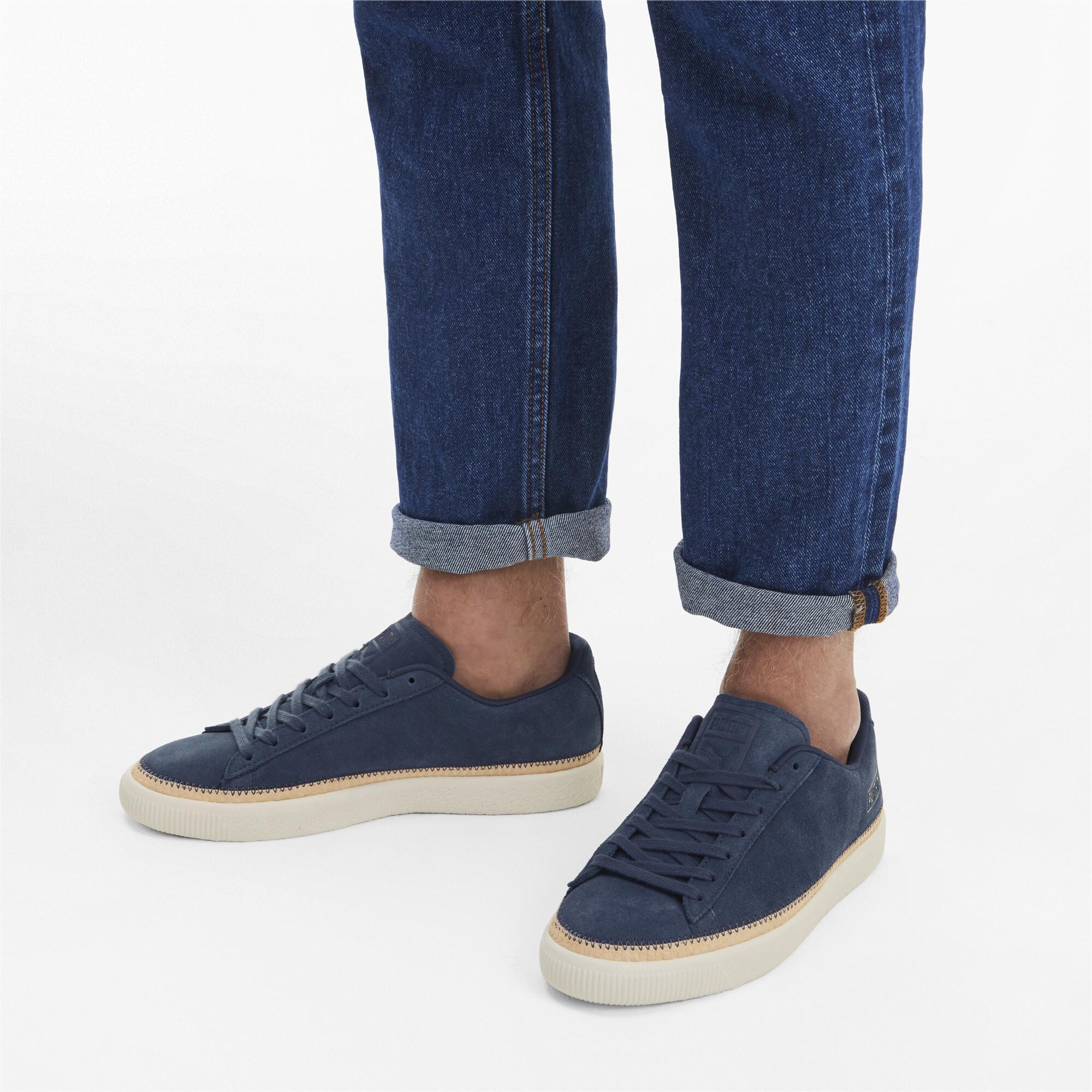 PUMA-Men-039-s-Suede-Trim-DLX-Sneakers thumbnail 12