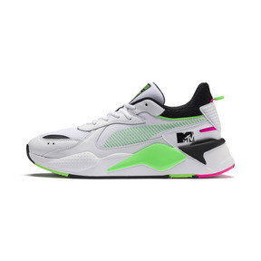 Thumbnail 1 of PUMA x MTV RS-X Tracks Yo! Raps Europe Trainers, Puma White-802 C Fluro Green, medium