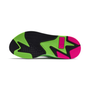 Thumbnail 4 of PUMA x MTV RS-X Tracks Yo! Raps Europe Trainers, Puma White-802 C Fluro Green, medium