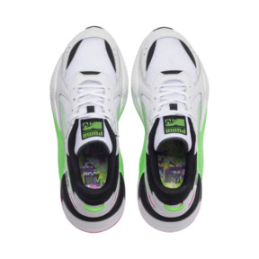 Thumbnail 6 of PUMA x MTV RS-X Tracks Yo! Raps Europe Trainers, Puma White-802 C Fluro Green, medium