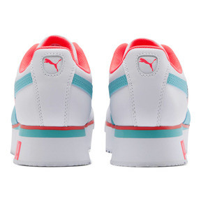 Thumbnail 3 of Roma Amor Heart Women's Sneakers, White-Milky Blue-Pink Alert, medium