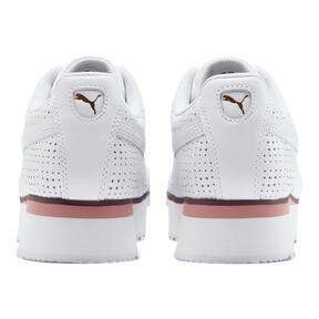 Thumbnail 3 of Roma Amor Perf Women's Sneakers, White-Brl Rose-Vineyard Wine, medium
