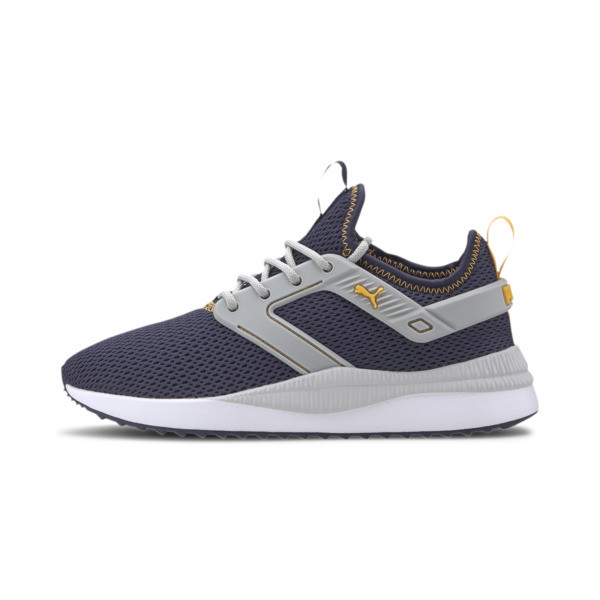 Puma Pacer Next Excel Summer Mesh Boys' Sneakers Jr In Grey, Size 4