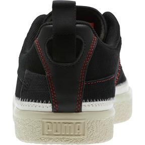 Thumbnail 3 of Clyde #REFORM Sneakers, Black-Whisper White- Red, medium