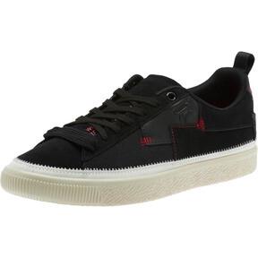 Thumbnail 1 of Clyde #REFORM Sneakers, Black-Whisper White- Red, medium