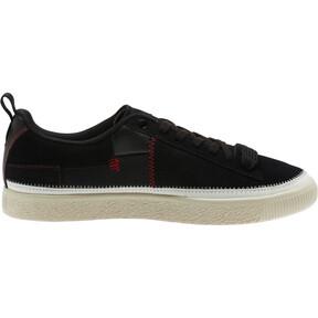 Thumbnail 4 of Clyde #REFORM Sneakers, Black-Whisper White- Red, medium
