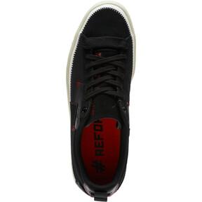 Thumbnail 5 of Clyde #REFORM Sneakers, Black-Whisper White- Red, medium