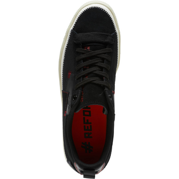 Clyde #REFORM Sneakers, Black-Whisper White- Red, large