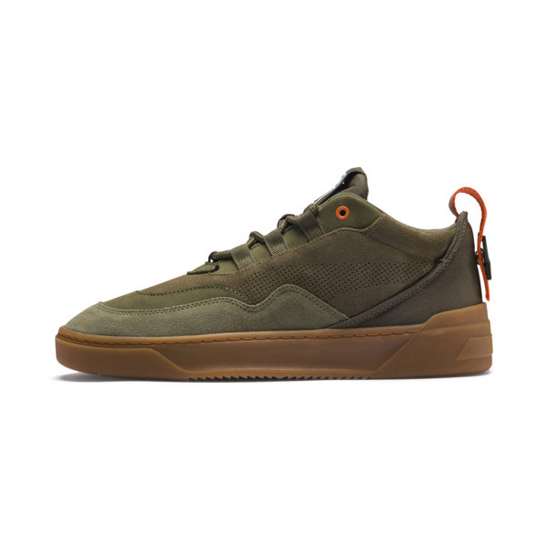 Cali Zero Demi Army Green Sneakers, Capulet Olive-Burnt Olive, large
