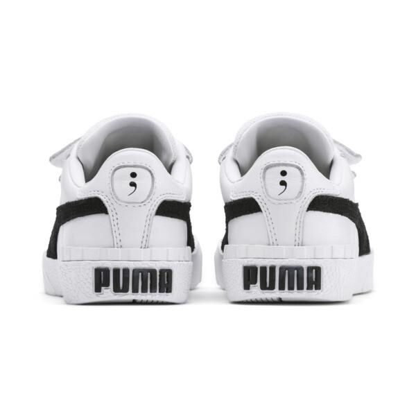 キッズ ガールズ SG x PUMA CALI V B&W PS スニーカー (17-21cm), Puma White-Puma Black, large-JPN