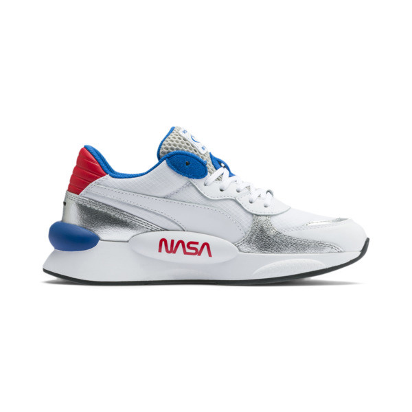 RS 9.8 Space Explorer Youth Trainers, Puma White-Puma Silver, large
