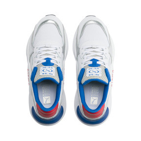 Thumbnail 6 of RS 9.8 Space Explorer Youth Trainers, Puma White-Puma Silver, medium