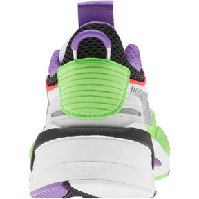 Thumbnail 3 of RS-X Bold Fluorescent Sneakers JR, PWhite-Gr Gecko-Royal Lilac, medium