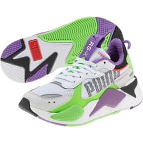 Thumbnail 2 of RS-X Bold Fluorescent Sneakers JR, PWhite-Gr Gecko-Royal Lilac, medium