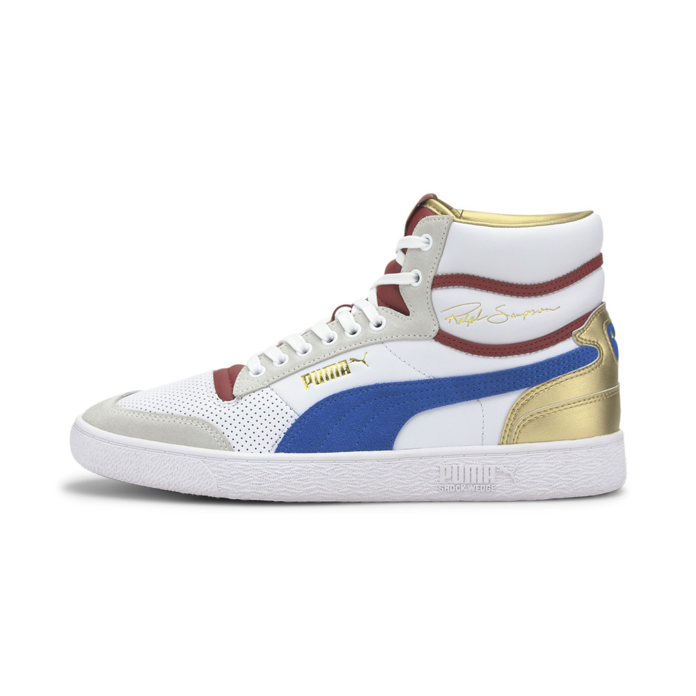 Image PUMA Ralph Sampson Royal Mid-Top Sneakers #1