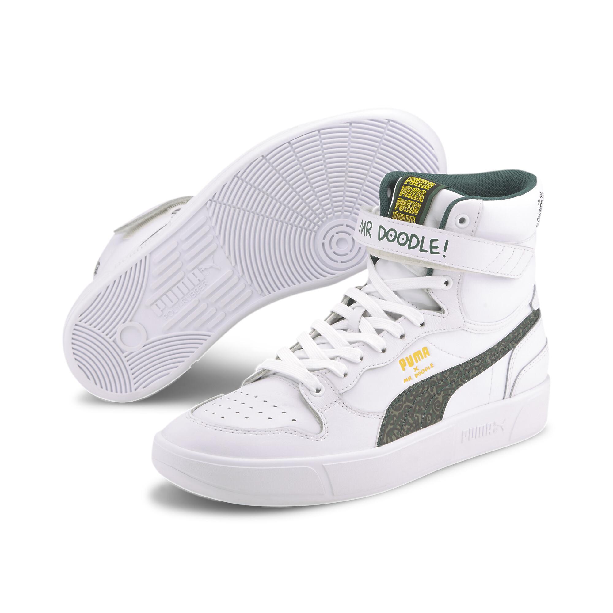 【プーマ公式通販】 プーマ PUMA x MR DOODLE スカイ LX ミッド バスケットボール スニーカー ユニセックス Puma White-Posy Green-Black  PUMA.com