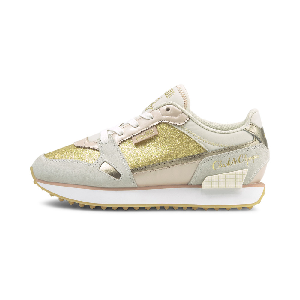 Image Puma PUMA x CHARLOTTE OLYMPIA Mile Rider Women's Trainers #1