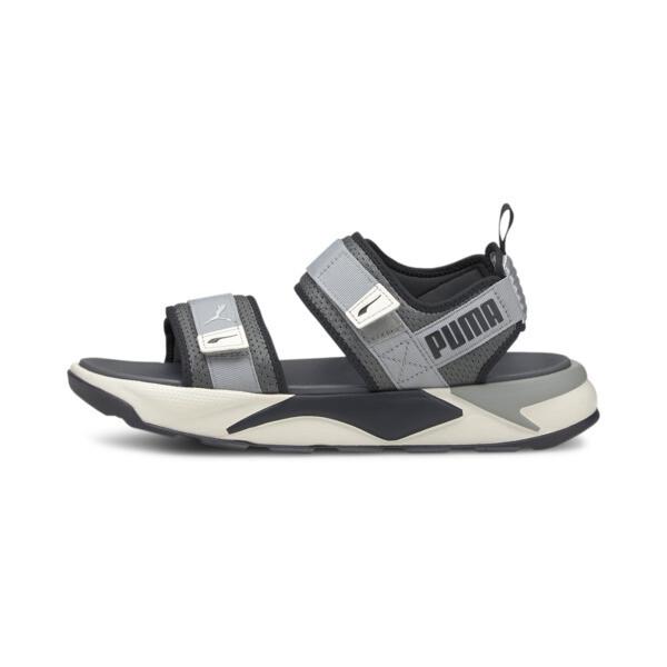 puma rs-sandal in dark shadow/limestone, size 7