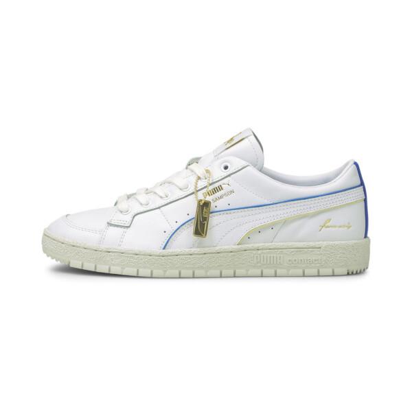 puma ralph sampson 70 lo rudolf dassler legacy men's sneakers in white/yellow pear/vgrey, size 7