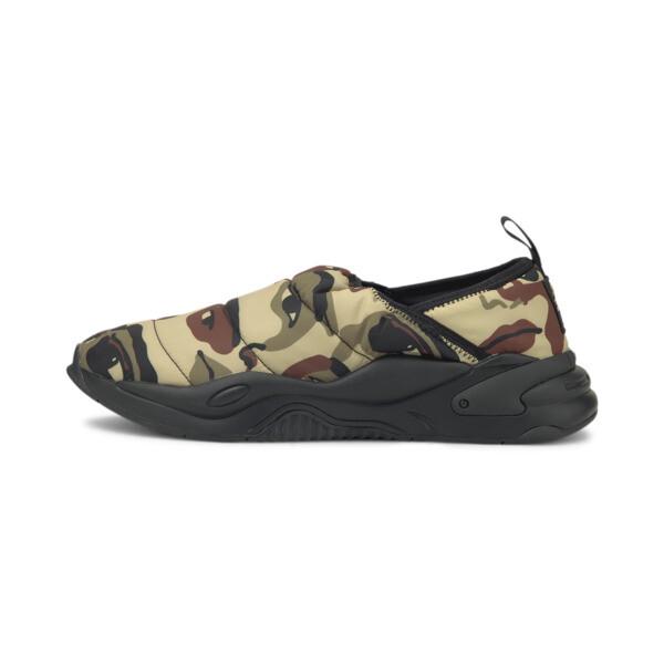 puma x kidsuper studios rs-2k slip-on shoes in pale khaki, size 4