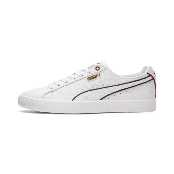 puma clyde flagship men's sneakers in dark blue, size 13