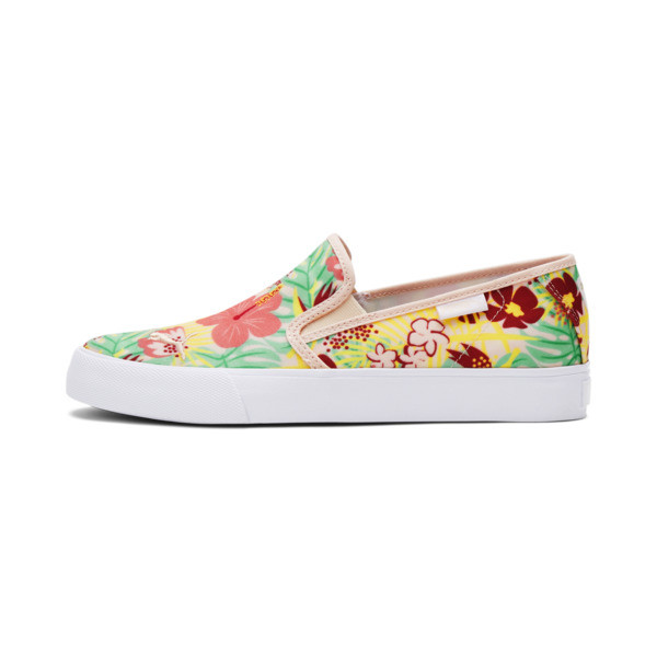 Puma Bari Cat Tropical Women's Slip-On Shoes In Cloud Pink/White, Size 5.5