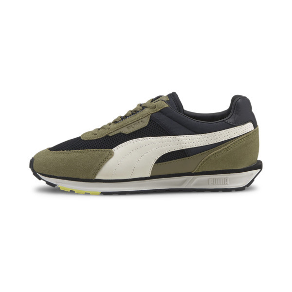 PUMA Low Rider Infuse Women's Sneakers in Black/Covert Green, Size 11