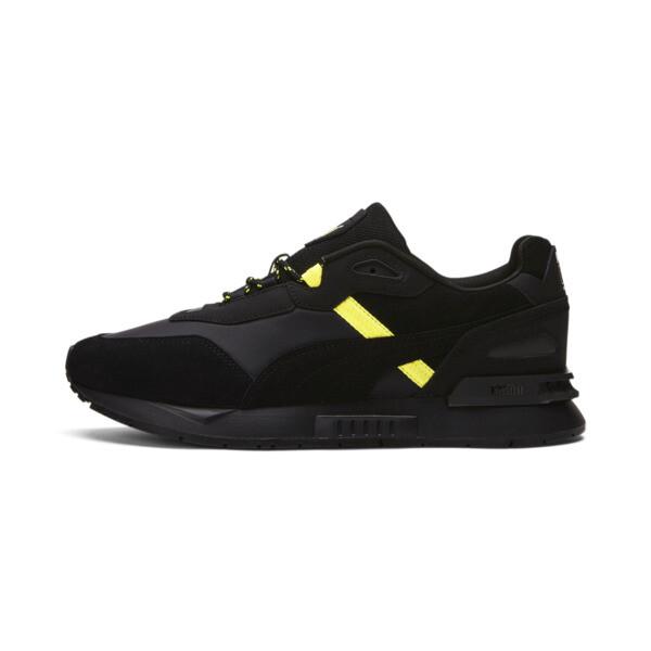 puma x helly hansen mirage tech sneakers in black, size 8.5