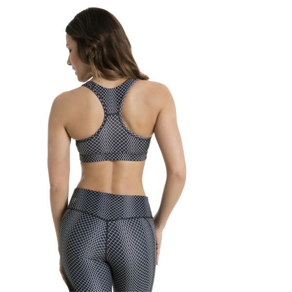 Training Women's PWRSHAPE Forever Graphic Bra, puma black-meta prt, large