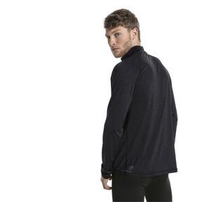Thumbnail 3 of Running Herren Half Zip Langarm-Shirt, Black Heather-with black zip, medium