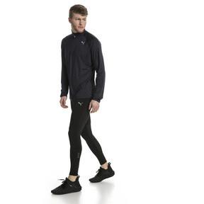 Thumbnail 5 of Running Herren Half Zip Langarm-Shirt, Black Heather-with black zip, medium