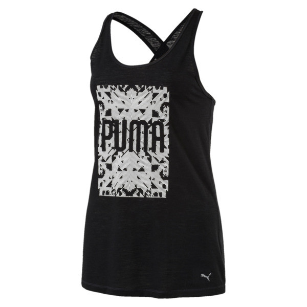 Training Women's Essential Dri-Release® Tank Top, Puma Black Heather, large