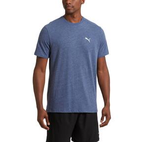 Thumbnail 2 of Essential Short Sleeve Crew T-Shirt, Blue Depths Heather, medium