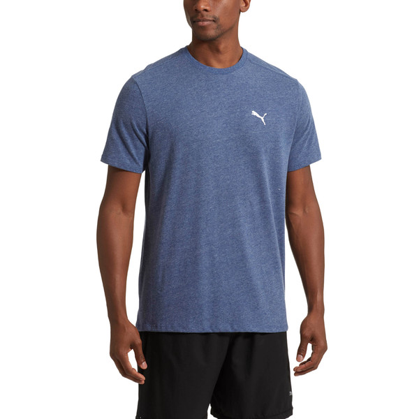 Essential Short Sleeve Crew T-Shirt, Blue Depths Heather, large