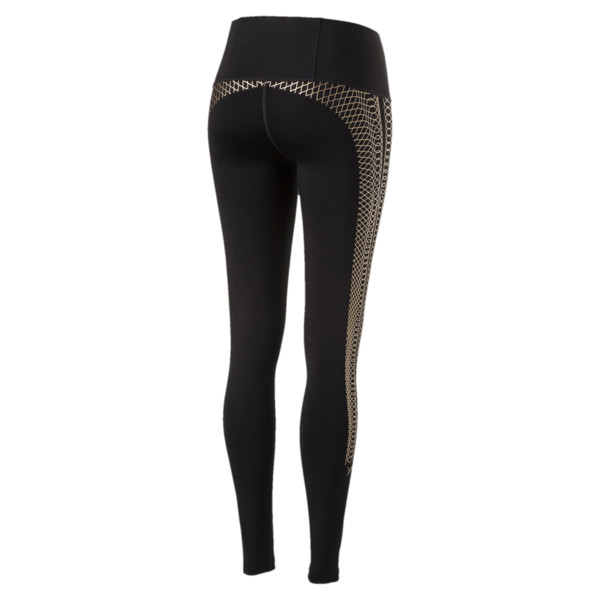 Active Training Women's Everyday Train Graphic Tights, Puma Black-Copper lacing prt, large