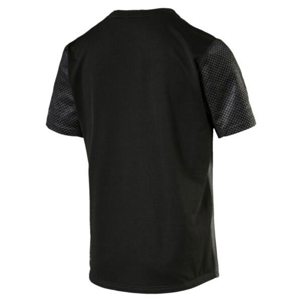 Graphic Short Sleeve Men's Running T-Shirt, Puma Black-Asphalt, large
