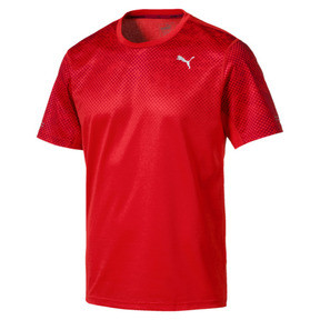 Thumbnail 1 of Graphic Short Sleeve Men's Running T-Shirt, Flame Scarlet, medium