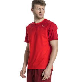 Thumbnail 2 of Graphic Short Sleeve Men's Running T-Shirt, Flame Scarlet, medium