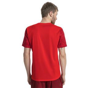 Thumbnail 3 of Graphic Short Sleeve Men's Running T-Shirt, Flame Scarlet, medium