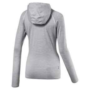 Thumbnail 4 of Run Women's Long Sleeve Hoodie, Light Gray Heather, medium