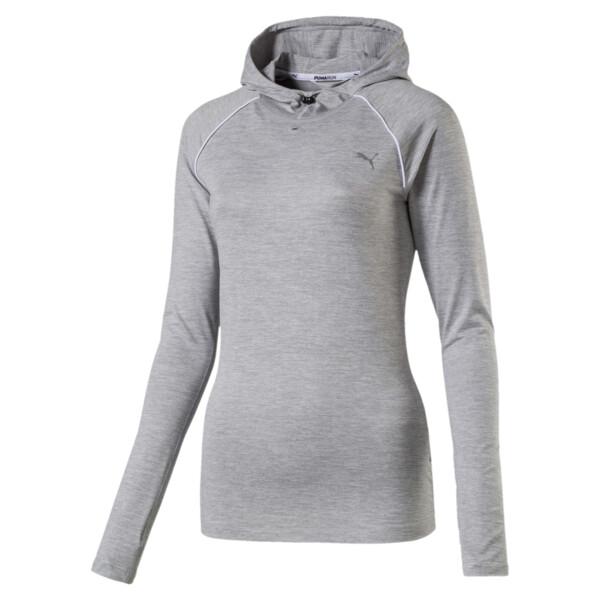 Run Women's Long Sleeve Hoodie, Light Gray Heather, large