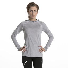 Thumbnail 2 of Run Women's Long Sleeve Hoodie, Light Gray Heather, medium