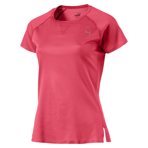 PWRRUN Women's Short Sleeve T-Shirt, Paradise Pink, large