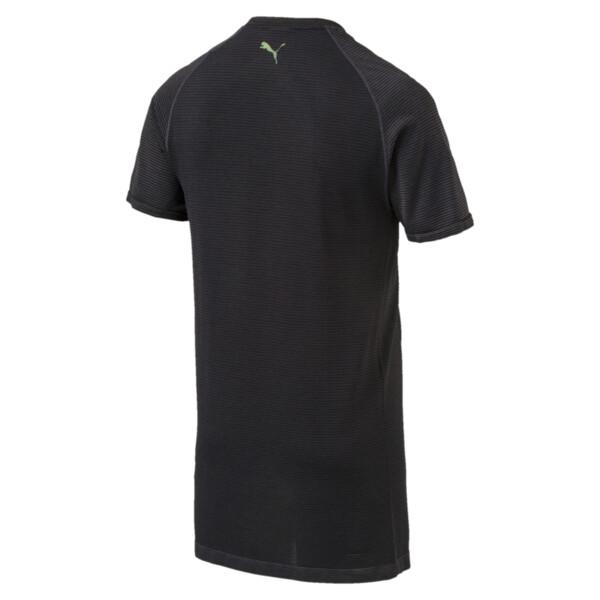 evoKNIT Men's T-Shirt, Puma Black Heather, large