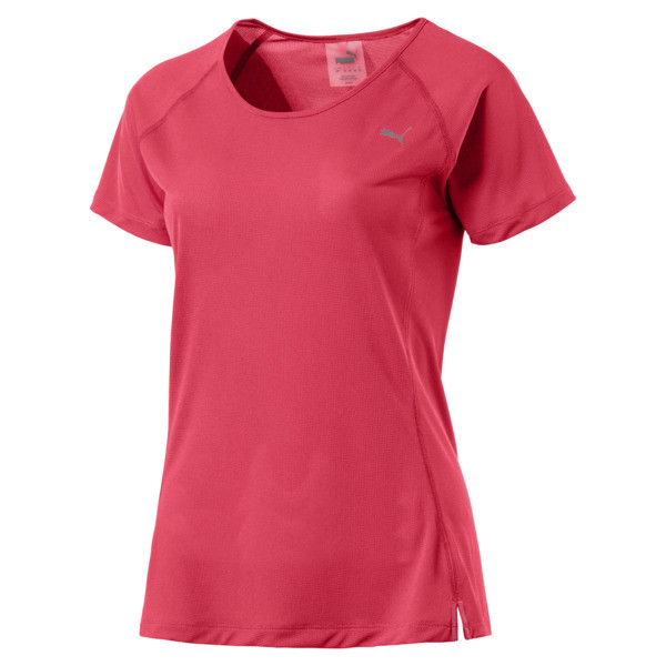Core-Run Short Sleeve Women's Training Top, Paradise Pink, large