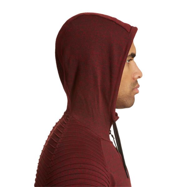 EvoKnit Energy Men's Half Zip Hoodie, Red Dahlia Heather, large