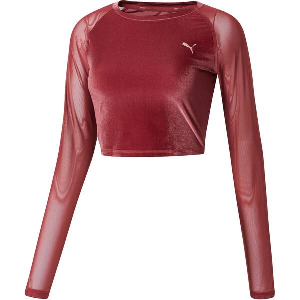 6d8c3862547 Explosive Long Sleeve Velvet Crop Top | Cordovan | PUMA Shoes | PUMA ...