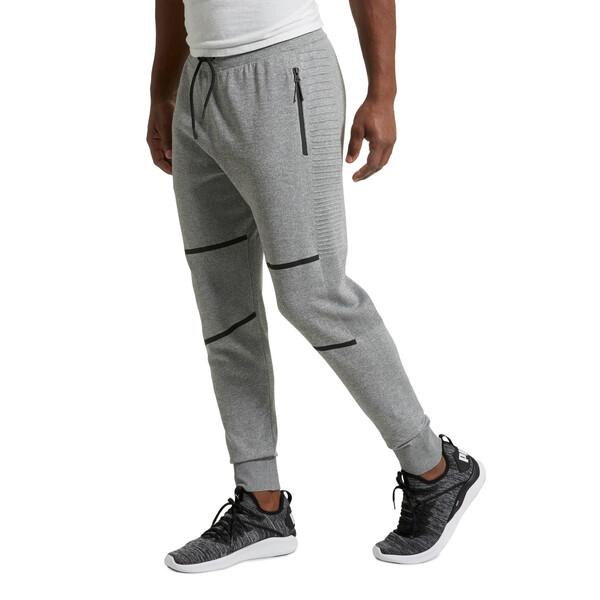 EvoKnit Men's Energy Trackster Pants, Medium Gray Heather, large