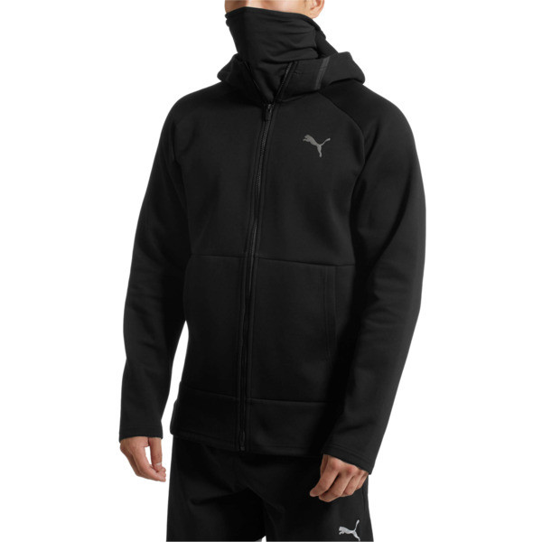 BND Tech Protect Zip-Up Hooded Men's Jacket, Puma Black, large