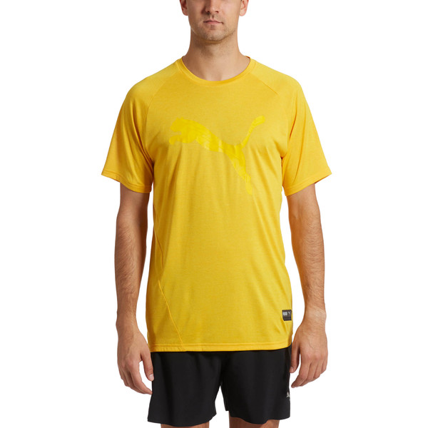 A.C.E. Heather Cat Men's Tee, Spectra Yellow Heather, large
